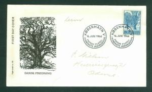 Denmark. FDC Cachet 1966. Nature Preservation 80 Ore. Fluorescent. Engr:Slania
