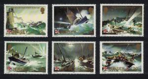 Jersey Ships Lighthouse Centenary of Jersey RNLI Lifeboat Station 6v SG#334-339