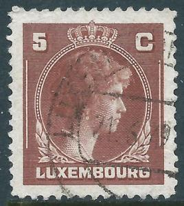 Luxembourg, Sc #218, 5c Used