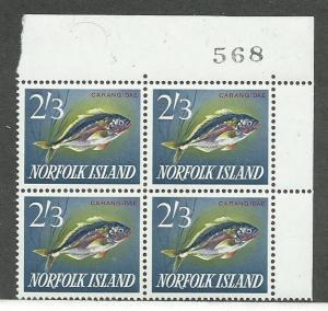 Norfolk Islands  #60 Plate Block of 4 (MNH)  CV $13.00