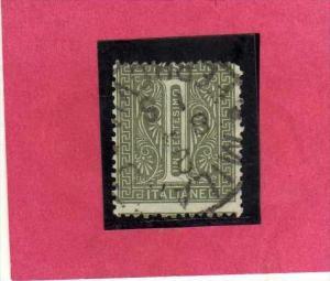 ITALIA REGNO ITALY KINGDOM 1863 1865 VITTORIO EMANUELE II  1 CENT.  USATO USED