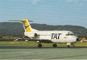 8085 Aviation Postcard   T.A.T. FOKKER F-28-1000  Airlines