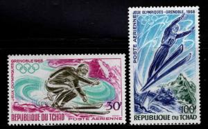 Chad TCHAD Scott C40-C41 MH* Winter Olympic airmail set