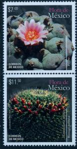 MEXICO 2950a, Flora of Mexico, Peyote & Biznaga, VERTICAL PAIR. MINT, NH. VF.