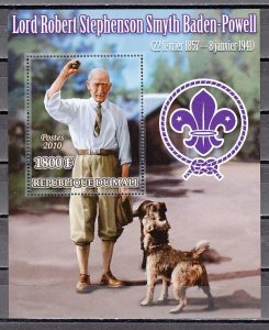 Mali, 2010 issue. Scout B. Powell & Dogs s/sheet. ^