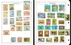 Honduras 1959-1993 Airmails all Used Hinged on Scott Int.Pages & 3 Blank Pages.