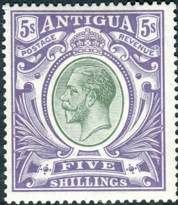 ANTIGUA-1913 5/- Grey-Green & Violet.  A mounted mint example Sg 51