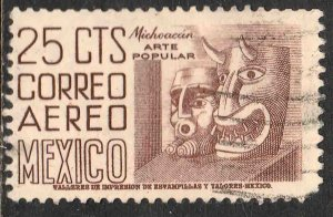 MEXICO C220A, 25cts 1950 Definitive 2nd Printing wmk 300 USED. F-VF. (1071)