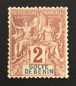 Benin 1893 #21, Unused/MH(see note), CV $6.75