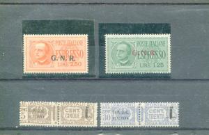 Italy  #E14-15  250l with certificate also #Q1 and Q4- VF NH