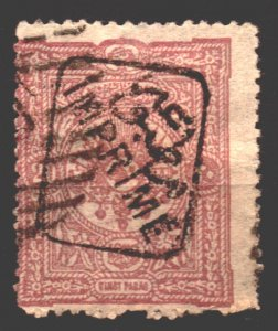 Turkey Scott P26 used - no expertise on the handstamp