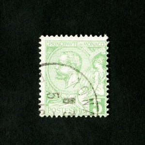 Monaco Stamps # 29 Fresh Used Catalog Value $27.50