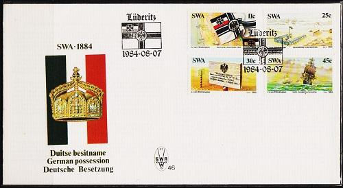 South West Africa. 1984 FDC. German Colonization. Fine Used