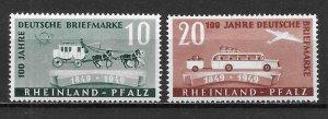 Germany Rhein-Palatinate 6N39-40 100th Stamps Set MNH (z3)