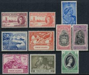 Virgin Islands #88-90,2-7,114*  CV $5.35