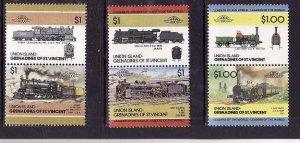 Union Is-Grenadines of St Vincent-Sc#44- id5-unused NH set-Trains-Locomotives-19