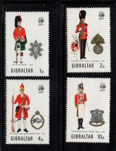 Gibraltar Sc  276-9 1971 Uniforms stamp set mint NH