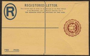 Ghana - 6p Registered Envelope, unused