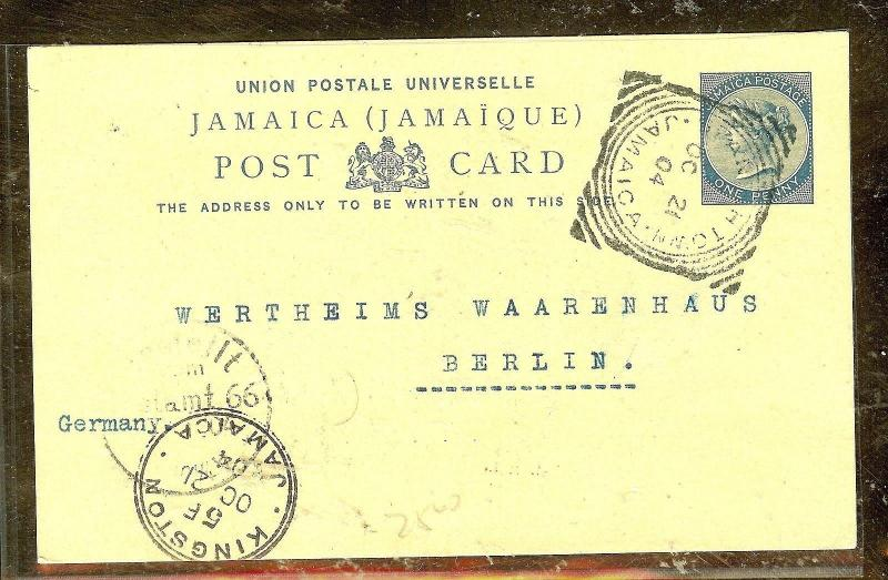 CAYMAN ISLANDS  (P2104B)  1952 KGVI 9D WEST BAY TO USA A/M