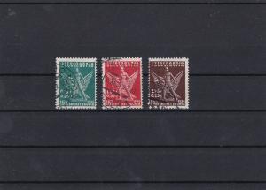 Yugoslavia 1934 Croat Sokol Games Used Stamps Ref 31024
