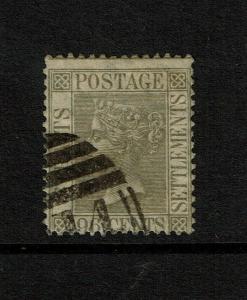 Straits Settlements SG# 19, Used, Hinge Remnant - S7479