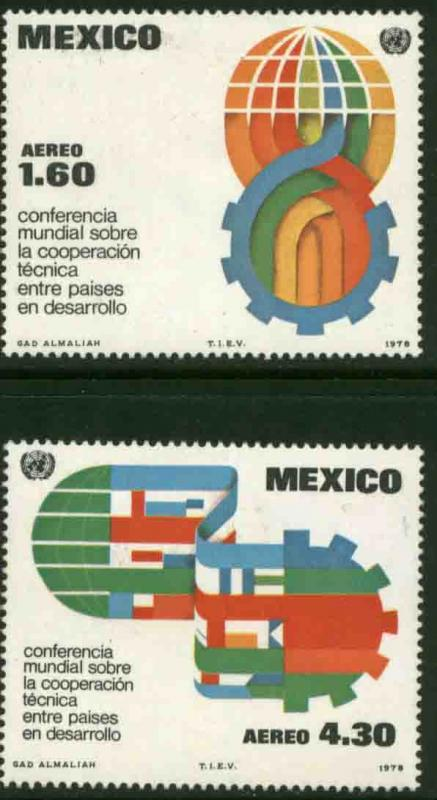 MEXICO C563-C564, Technical Cooperation Conference MINT, NH. F-VF.