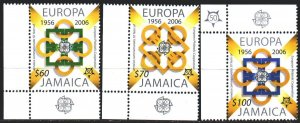 Jamaica. 2005. 1081-83. 50 years of europe-sept. MNH.