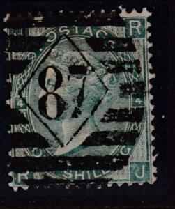 Great Britain 1865 QV Nr.48 1sh green Plate-4  F/VF/Used