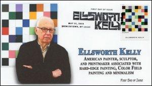 19-131, 2019, Ellsworth Kelly, Pictorial Postmark, FDC, Artist, Spencertown NY