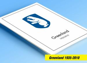 COLOR PRINTED GREENLAND 1935-2010 STAMP ALBUM PAGES (100 illustrated pages)