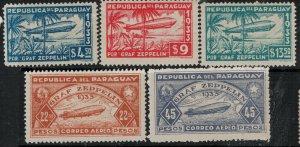 Paraguay 1933 SC C79-C83 Mint SCV $61.00 Set