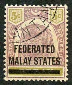 Malay States SG9 Malay States on 5c Perak