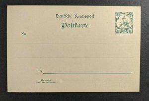 Mint Vintage Caroline Islands Germany Postal Stationary Postcard 5 Pfennig