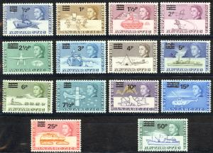 British Antarctic Territory Sc# 25-38 MNH 1971 Surcharged Definitives