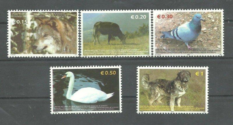 KOSOVO  2006  ( UN-Administration ) Animals  Mi.bl.1 FAUNA SET