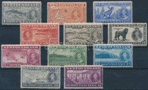 Newfoundland stamp Coronation of George VI.set Hinged 1937 Mi 221-231 WS236262