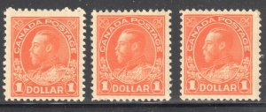 Canada VF NH  #122 - 122b, iv, ii (All Stamps in perfect condition) C$3700.00