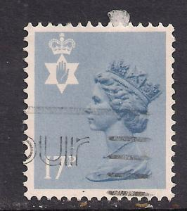 Northern Ireland GB 1984 QE2 17p Grey Blue Machin SG NI 43 ( K81 )