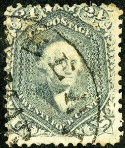US Stamps # 70b Used AV Neat cancel scarce shade Scott Catalogue $850.00