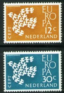 Netherlands Scott 387-388 MH* Europa 1961 set