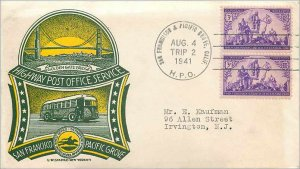 Cover US Highway Post Office Bus 1941