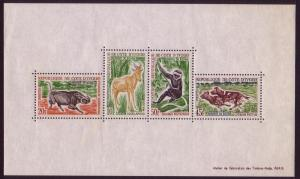 Ivory Coast Wild Animals MS D1 SG#MS236a MI#Block 2