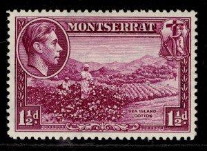 MONTSERRAT GVI SG103a, 1½d purple, M MINT.