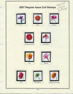 4166-85 41cent FLOWER BLOSSOMS 20 MINT SINGLES ON ALBUM PAGES BCV $50.75 - W18