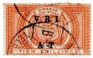 (I.B) Orange River Colony Army Telegraphs : 10/- Orange