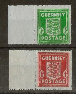 Guernsey 1942 Banknote Pair SG4-5 MNH Cat£50