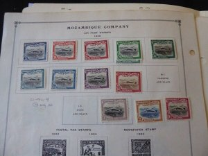 Mozambique Company 1918-1940 Stamp Collection on Scott International Pages