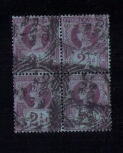 SG201 Great Britain Used Block Of Four F-VF