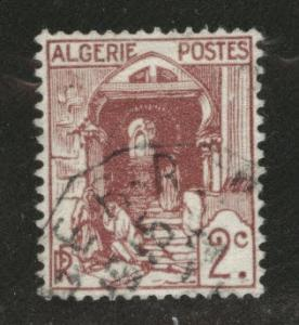 ALGERIA Scott 34 Used stamp from 1926-1939 set
