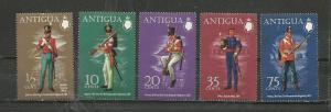 Antigua Scott catalogue #283-287 Unused Hinged